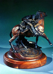 """Brothers of the Gun"", a western bronze by L.D. Edgar, Western Heritage Studio, Cody Wyoming."