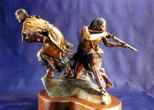 """Washita Dawn"", a western bronze by L.D. Edgar of the Western Heritage Studio in Cody Wyoming"