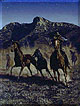 Good Horses - Bad Men is a just released print by L.D. Edgar of the Western Heritage Studio in Cody Wyoming