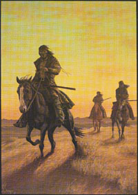 """Ill Wind at Three Forks"" by L.D. Edgar, Western Heritage Studio, Cody Wyoming"